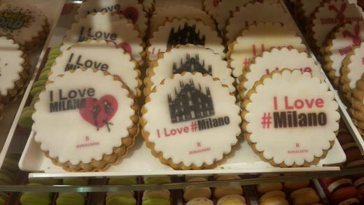 I love Milan! Cookies in La Rinascente food hall, Milan.