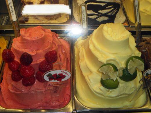 Gusti di gelato, Milan.