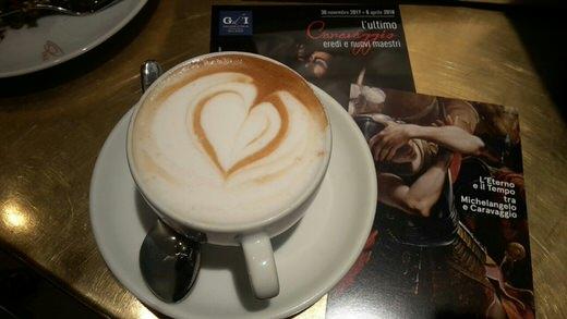 A delicious cappuccino in Princi, Milan.