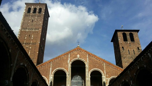 The Basilica of Sant'Ambrogio, Milan.