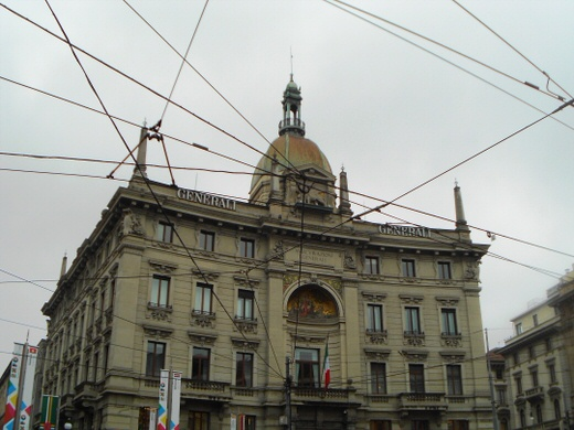 An imposing building in Milan.