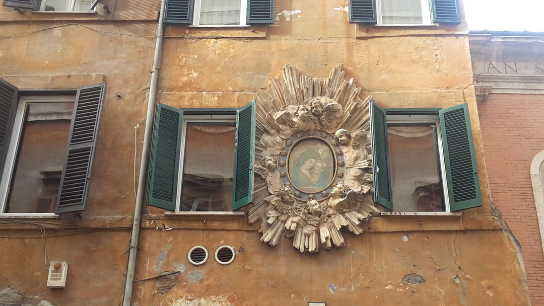 Religion is present everywhere in Rome...