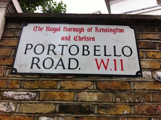 The sign of Portobello road, Notting Hill, London.