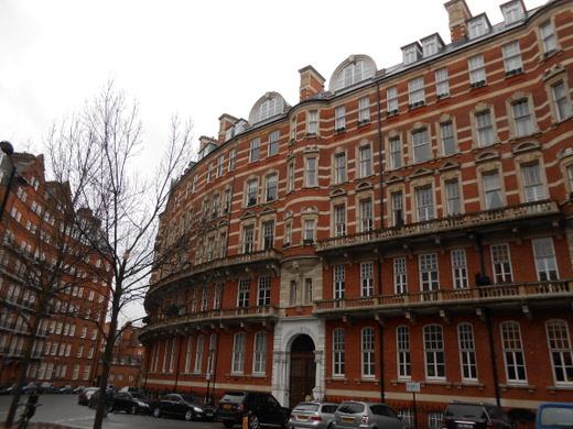 Buildings in Kensington, London.