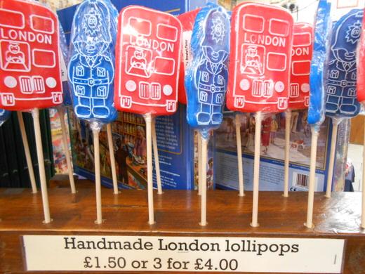 Lollipops in Covent Garden's market.
