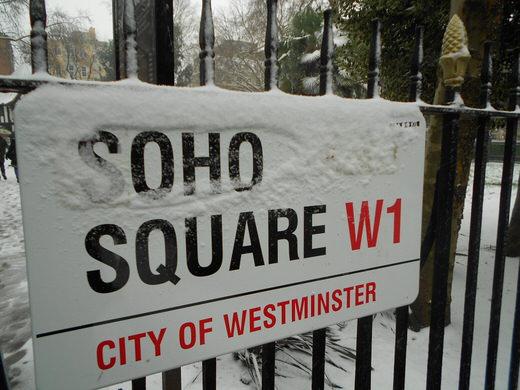 Soho square, London.