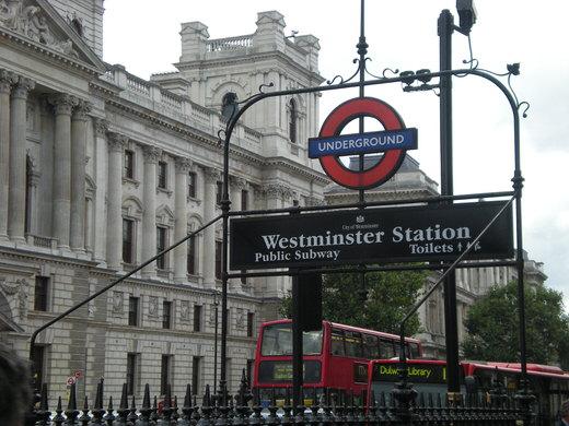 Westminster tube station, London.