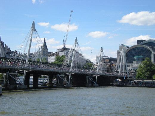 Hungerford bridge, London.