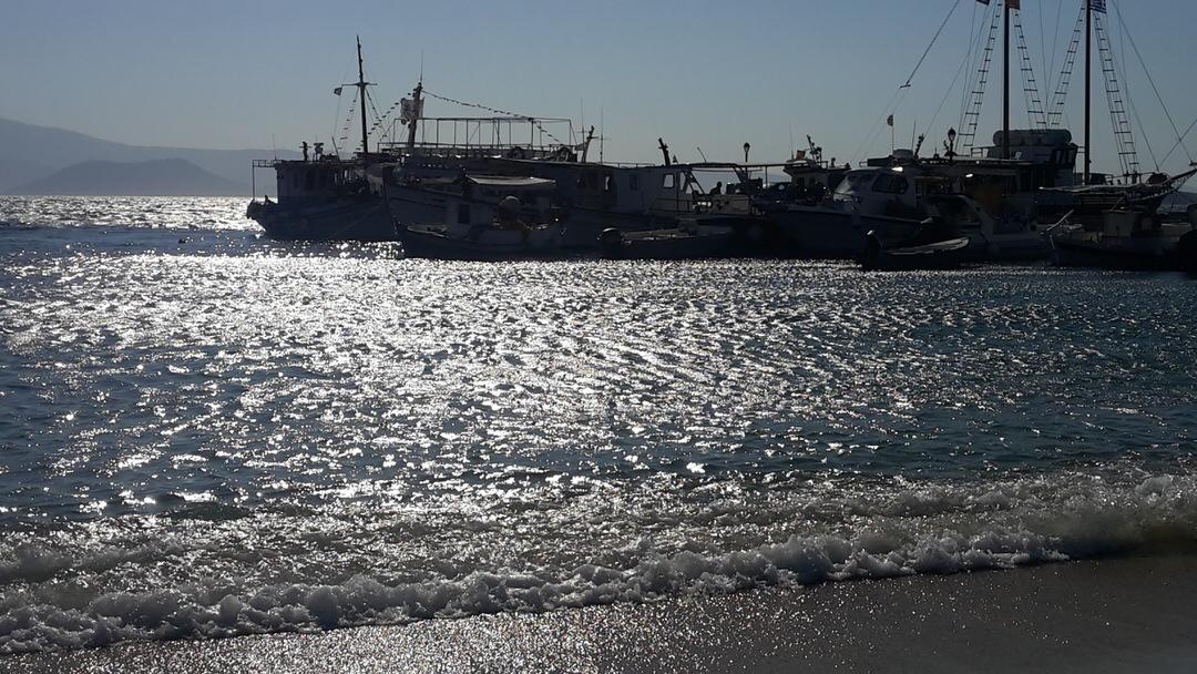 Agia Anna beach in Naxos island, Cyclades, Greece.