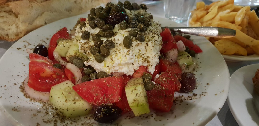 A delicious salad at Irini's in Naxos.