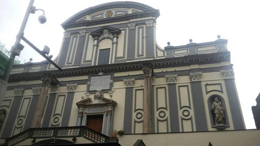 Basilica di San Paolo Maggiore, Naples - Napoli, Italy.
