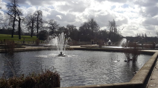 The Italian gardens in Hyde Park, London.