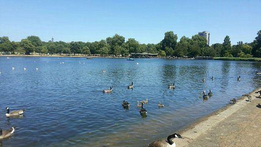 Serpentine lake in Hyde Park, London.
