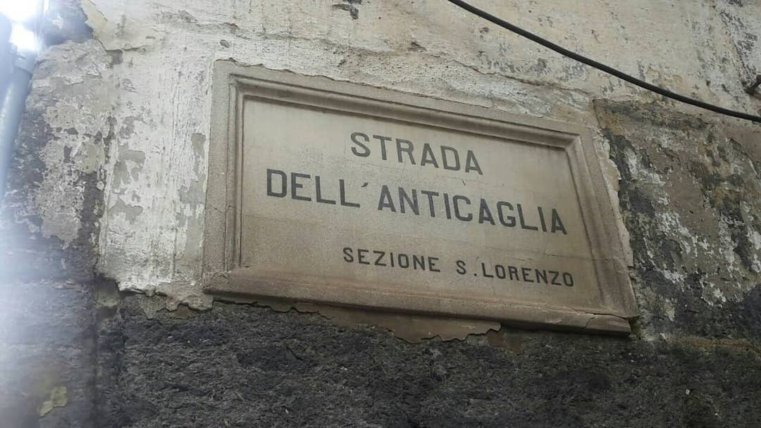 Strada dell' Anticaglia in Naples, Italy.